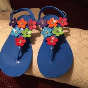 Beautiful flowers sandals